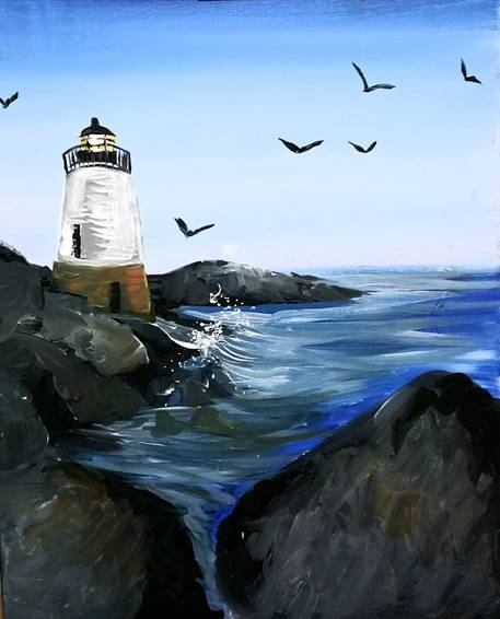 A Castle Hill Lighthouse paint nite project by Yaymaker