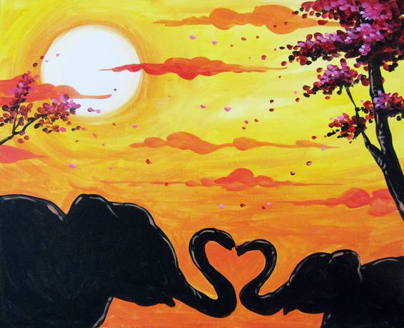 A Nothing Like a Mothers Love paint nite project by Yaymaker