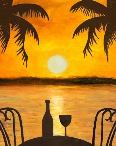 A Reservations in Paradise paint nite project by Yaymaker