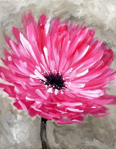 A Pop of Pink paint nite project by Yaymaker