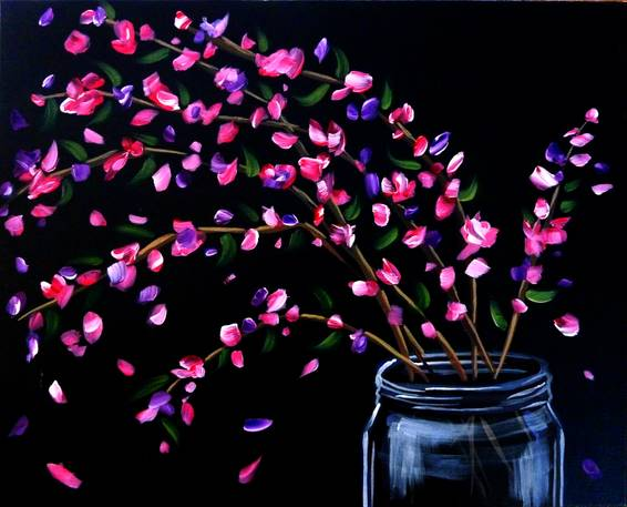 A Homemade Bouquet paint nite project by Yaymaker