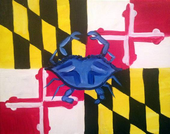 A Crabby State of Mind paint nite project by Yaymaker