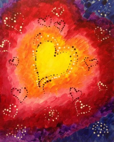 A Whole Lotta Love paint nite project by Yaymaker