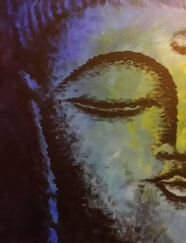 A Blue Buddha paint nite project by Yaymaker