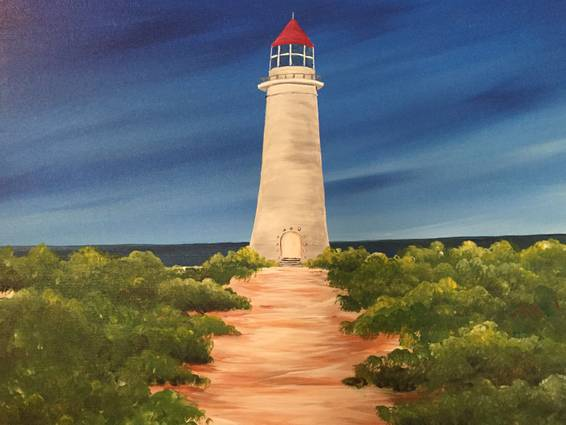 A Lighthouse Path paint nite project by Yaymaker