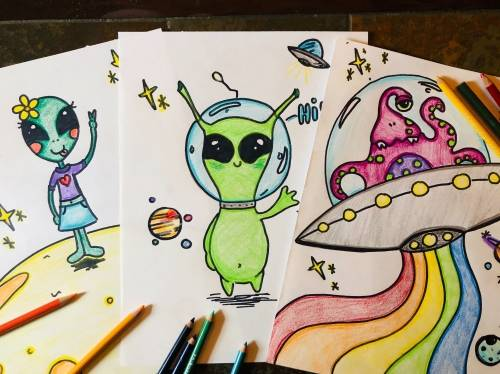 A Virtual Event Drawing Aliens experience project by Yaymaker