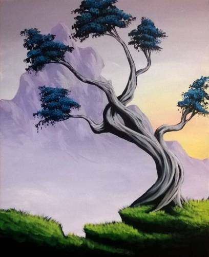 A Twisted Tree II paint nite project by Yaymaker