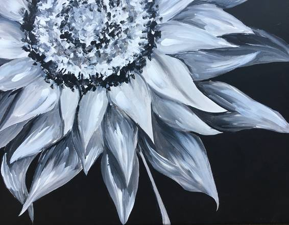 A Nighttime In The Garden paint nite project by Yaymaker