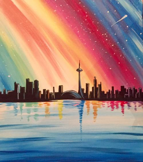 A Colourful Toronto paint nite project by Yaymaker