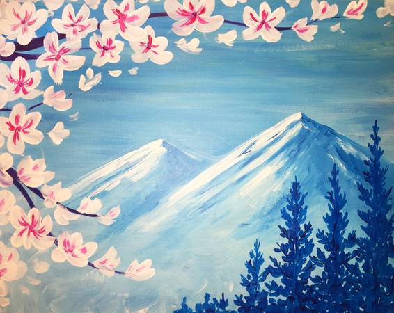 A Spring Peaks paint nite project by Yaymaker