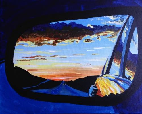 A On the Road Again paint nite project by Yaymaker