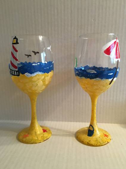 A Seaside Sipper paint nite project by Yaymaker
