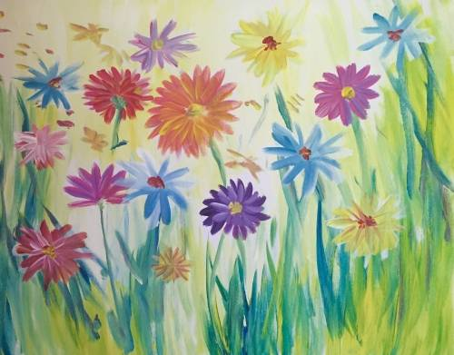 A Dizzy Daisies paint nite project by Yaymaker