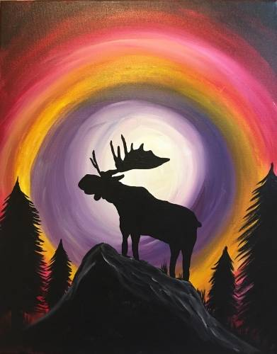 A Majestic Moose Moon paint nite project by Yaymaker