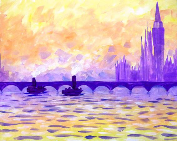 A Monets River paint nite project by Yaymaker