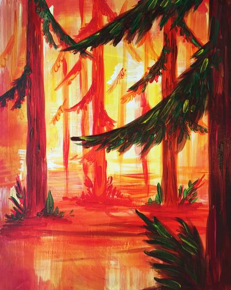 A Forest Fire paint nite project by Yaymaker