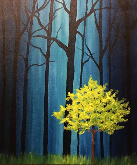A Lime Lost in the Forest paint nite project by Yaymaker