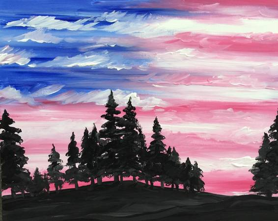 A America the Beautiful paint nite project by Yaymaker