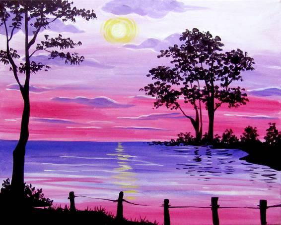 A Joy Comes in the Morning paint nite project by Yaymaker