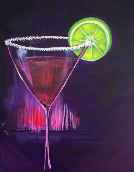 A Mommy Needs A Martini paint nite project by Yaymaker