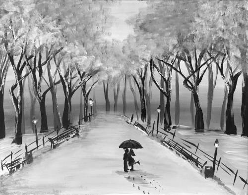 A Sno Place Like Central Park paint nite project by Yaymaker