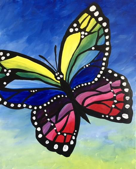 A A Monarch Butterly paint nite project by Yaymaker