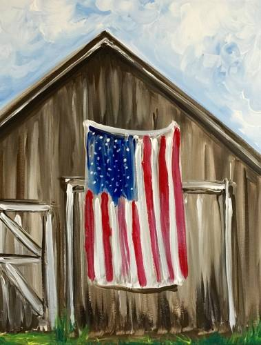 A American Barn paint nite project by Yaymaker
