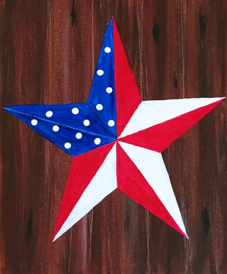 A Patriotic Barn Star paint nite project by Yaymaker