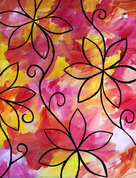A Daisied and Confused paint nite project by Yaymaker
