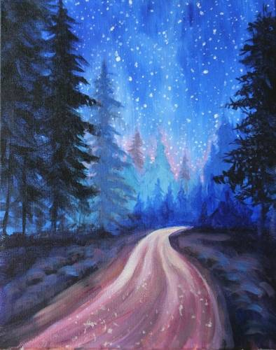 A Highway to the Stars paint nite project by Yaymaker