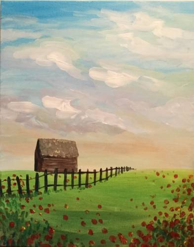 A Midday Pastures paint nite project by Yaymaker