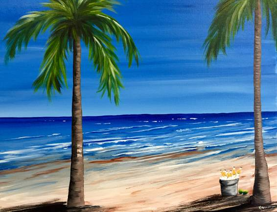 A Brews on the Beach paint nite project by Yaymaker
