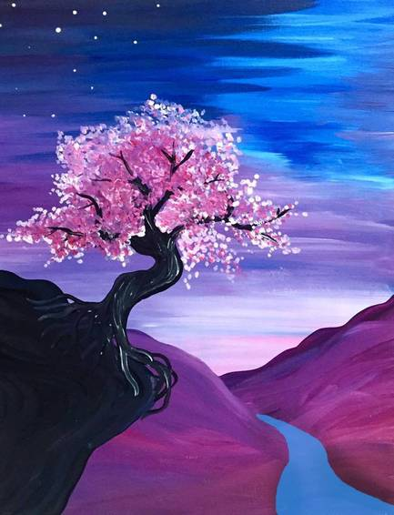 A Blossom Bay paint nite project by Yaymaker
