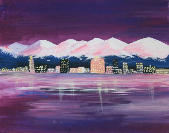 A Alpenglow Anchorage paint nite project by Yaymaker