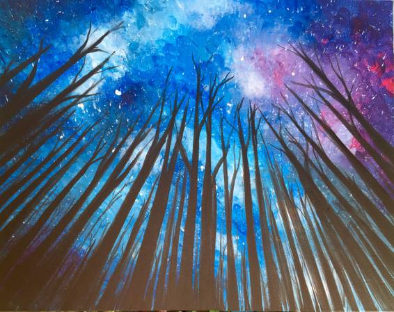 A Up at the Galaxy paint nite project by Yaymaker