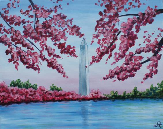 A DC Cherry Blossom paint nite project by Yaymaker