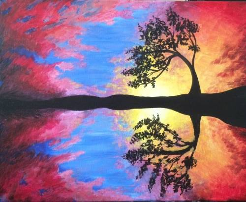 A Sunset Fire II paint nite project by Yaymaker