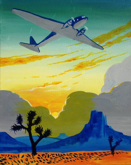 A Desert Aviation paint nite project by Yaymaker