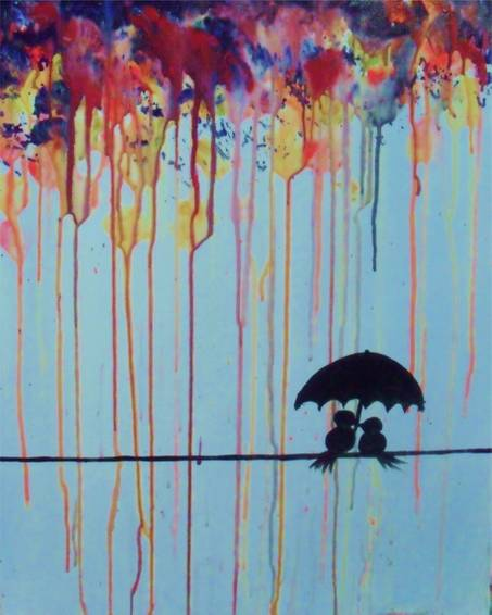 A Raining Paint paint nite project by Yaymaker