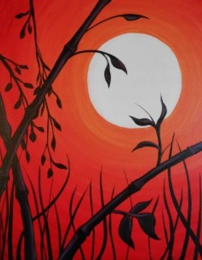 A Bamboo 1 paint nite project by Yaymaker