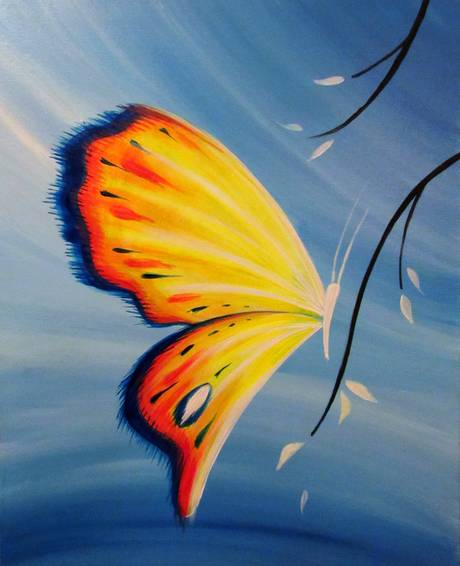 A Butterfly Brilliance paint nite project by Yaymaker