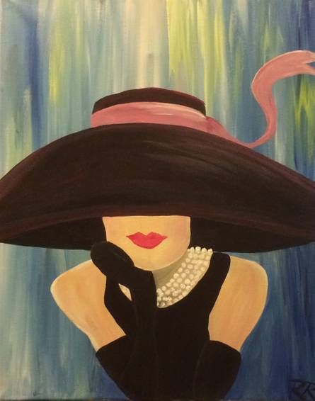 A Audrey paint nite project by Yaymaker