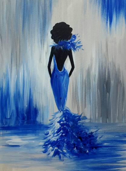 A Lady Grace paint nite project by Yaymaker