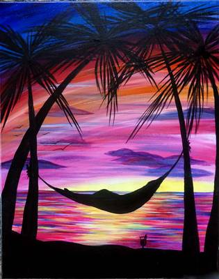 A Staycation paint nite project by Yaymaker