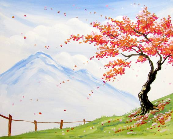 A Countryside Orange Blossoms paint nite project by Yaymaker