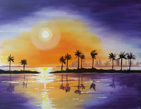 A South Beach Heat paint nite project by Yaymaker