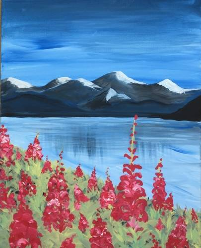 A Fireweed In Bloom paint nite project by Yaymaker