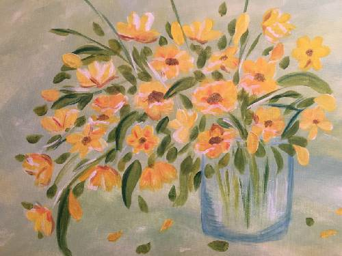 A Fresh Yellow Blooms paint nite project by Yaymaker
