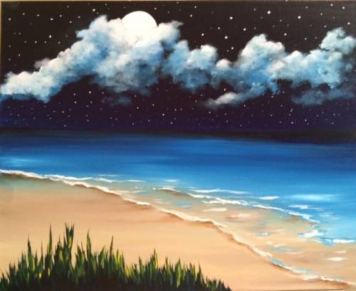A Cosmic Sea paint nite project by Yaymaker