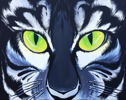A Wild Green Eyes paint nite project by Yaymaker